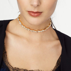 BaubleBar Catina Choker necklace gold stones NWT